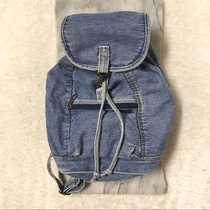 Crickets Denim Jean Zipper Strap Mini Backpack